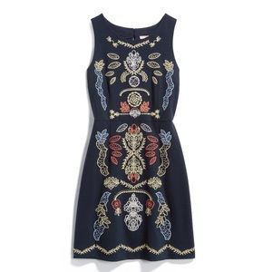 Skies are blue Felicia embroidered knit dress